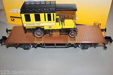 Märklin 5842 60-01 Flachwagen mit Post Lkw DRP Spur 1 OVP