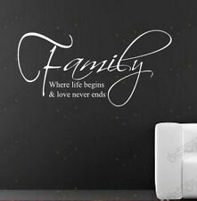Family & Love stickers wall Quote Removable Art Vinyl Decor Home Kids Au decal