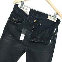 ⭐ Mens Diesel D-Eetar 069DV tapered slim stretch black denim jeans size W31 L32