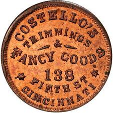 1863 Cincinnati Ohio Civil War Token Costello's R7 Pcgs Ms65 Rb Very Red
