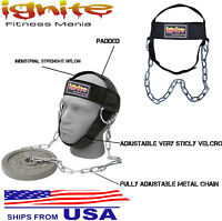 IGNITE Head Harness Neck Muscles Builder Belt Weight Lifting Gym Chain Exercise