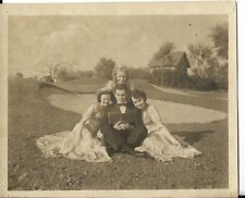 1940S PHOTO OF YOUNG BIG BAND ERA TYPE KIDS ON A GOLF COURSE POSING
