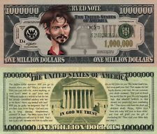 Keanu Reeves Caricature Million Dollar Tract Fun Money Novelty Note +FREE SLEEVE