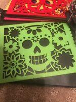 Mexican Dia de los muertos sugar skull felt Papel Picado 60 in. Hanging banners