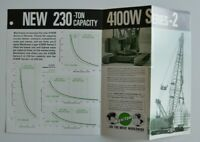 MANITOWOC 4100W Serie-2 Tower Crane 1978 dealer brochure catalog - English - USA