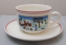 Villeroy and Boch CHRISTMAS NAIF LAPLAU tea cup & saucer NEW NWL