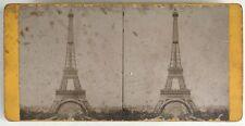Paris La Tour Eiffel Photo Stereo Vintage Albumine c1890