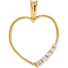 Jornada Corazón de diamante 45.7cm Collar en 14 Quilates Oro Amarillo (1/5 CT.