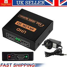 2 VIE 4K*2K 1080p HUB 3D SPLITTER HDMI 1*2 AMPLIFICATORE MIXER Video per HDTV PS3 DVD