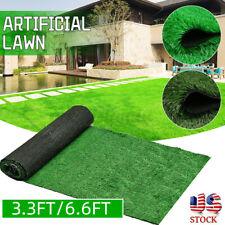 6.6ft Artificial Grass Carpet Fake Synthetic Landscape Lawn Mat Turf Garden
