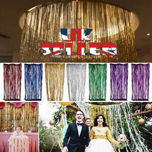 Party Decoration 2M-3M LASER Foil Fringe Tinsel Shimmer Curtain Wedding Birthday