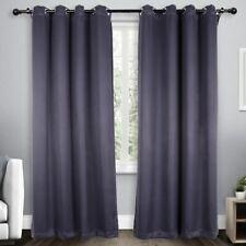 Solid Imitation Silk Blackout Curtains Living Room Drapes Bedroom Window Panel