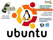 Linux Ubuntu 17.04 Desktop and Server Install Recovery MultiBoot USB Thumb Drive