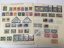 old stamps  UNION OF SOUTH AFRICA  hinged on 2 pages