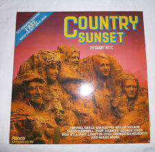 VARIOUS ARTISTS  *  COUNTRY SUNSET- 20 HITS  *  (1981)  RONCO  VINYL  LP  *  EXC