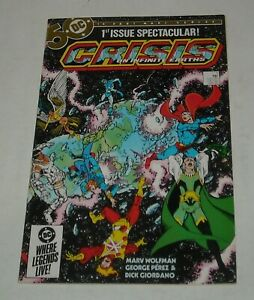 CRISIS on INFINITE EARTHS # 1 DC COMICS 1985 MONITOR 1st APPEARANCE GEORGE PEREZ