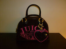 Brown and Pink Velvet Juicy Couture Bag, Heart Mirror