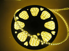 2M Warm White 110V `120V 5050SMD Flexible Flat LED Strip Rope Light+US Plug