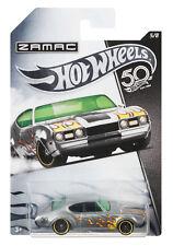 MATTEL-Hot Wheels - 50th ZAMAC -'68 Olds 442, nuovo, confezione originale, frn28