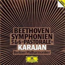 """BEETHOVEN : SYMPHONIEN NR. 5 & 6 """"PASTORALE"""" - BP, KARAJAN / CD"""