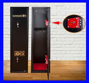 Ultimate Safe® 5 Shotgun Rifle Gun Safe Cabinet With Ammo Box