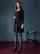 FIORE Catalana Black Dahlia Luxury Super Fine 30 Denier 3D Patterned Tights