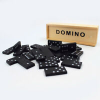KIDS WOODEN BOX DOMINOES SET TOY TRADITIONAL CLASSIC CHILDREN 28 DOMINO KIDS