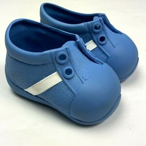 My Buddy Doll Shoes Only Blue Vintage Vinyl No Laces 4.5 inch Big Fat Feet 1980s