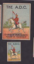 Ancienne étiquette allumettes Suède BN32481 The A.D.C. Cavalier Inde