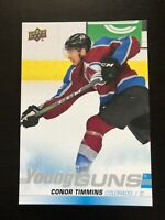 Conor Timmins 2019-20 Upper Deck NHL Young Guns Oversized Jumbo #203 Avalanche