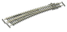 Peco SL-E387F Curved Radius Left Hand Point Electrofrog Code 55 rail N Gauge