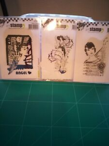 Three Carabelle studio stamps New.