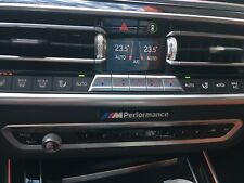 1x BMW M Performance LOGO Aufkleber Logo Emblem Sticker Interieur BMW M  schw.