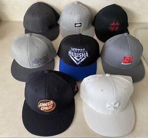 Skateboard Baseball Caps Lot Of 8 Santa Cruz Vans DC