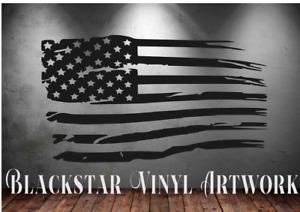 "USA FLAGS CAMPERVAN DAYVAN GMC ASTRO ECONOLINE CHEVY DODGE JEEP DECALS 38"" X 21"""