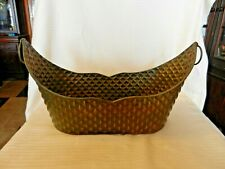 Decorative Stamped Metal Basket for Artificial Flowers, Mail and More