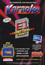 Chartbuster Essential 450 Karaoke Songs Vol 1 SD Card or USB CDG Music 4 PLAYER