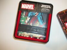 MARVEL Comics SLIMFOLD Bifold Multi-Color CAPTAIN AMERICA Wallet w/COLLETORS TIN