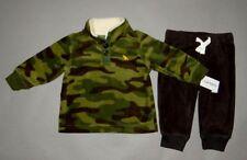 Baby boy clothes, 3T, Carter's Fleece camouflage top, fleece pants/New Arrival~!