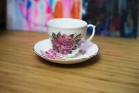 Tea Cup and Saucer Set Sandford Fine Bone China 22 KT Gold Made in England