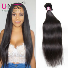 7A UNice Peruvian Straight Human Hair 1 Bundle 100% Peruvian Virgin Remy Hair