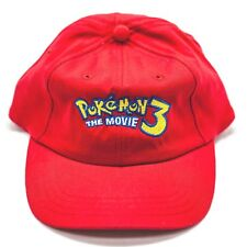 Pokémon The Movie 3 Kids Youth Hat Red Rare Promo Collector Souvenir Memorabilia