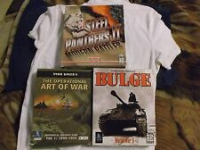 Vintage Pc War Strategy Games x 3 Complete. Steel Panthers Big Box Versions