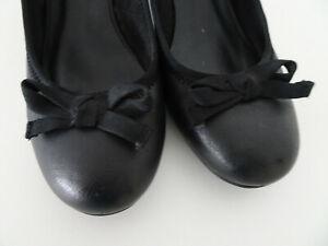Damen Pumps schwarz Gr 41 Dirndl Schuhe