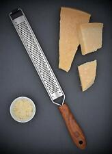 Parmesan Ginger Lemon Zest Grater Professional Stainless Steel Wood 39.5cm