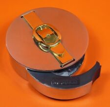 Authentic Hermes Silver Gold Brass Buckle Tape Dispenser Desk Home Object OB104