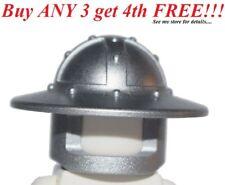 ☀️NEW Lego Boy/Girl Minifig Hat Kingdoms Metallic Silver HELMET Castle Knight