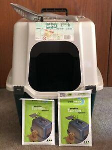 Van Ness Extra Giant Enclosed Cat Litter Pan, New Zeolite Filters Strainer Scoop