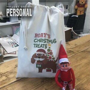 Personalised Dog Santa Sack - Cockapoo - Rory Design - Christmas Treats