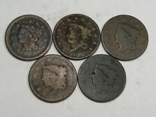 5 Problem Large Cents: 1852, 1819, 1816 (all weak); 2 No Dates.  #30